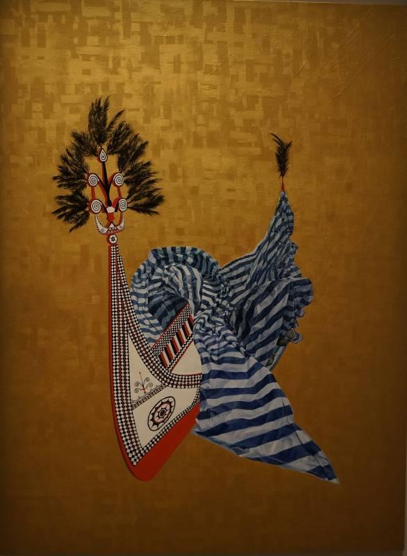 Tatara,油彩、畫布,180x135x5cm,2018