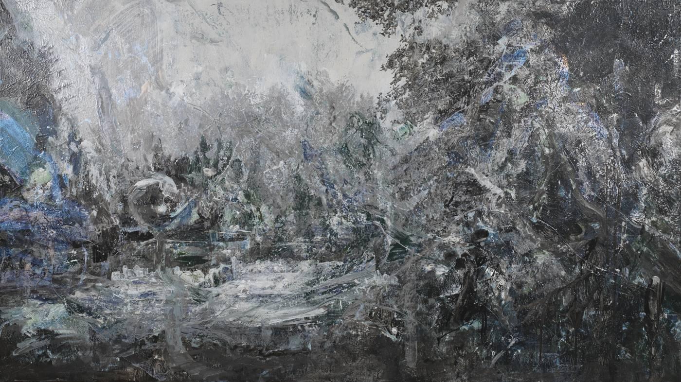 百年,壓克力顏料、畫布,130x232cm,2019