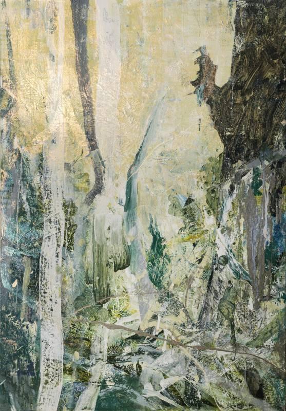 森林16,壓克力顏料、畫布,112x162cm,2017
