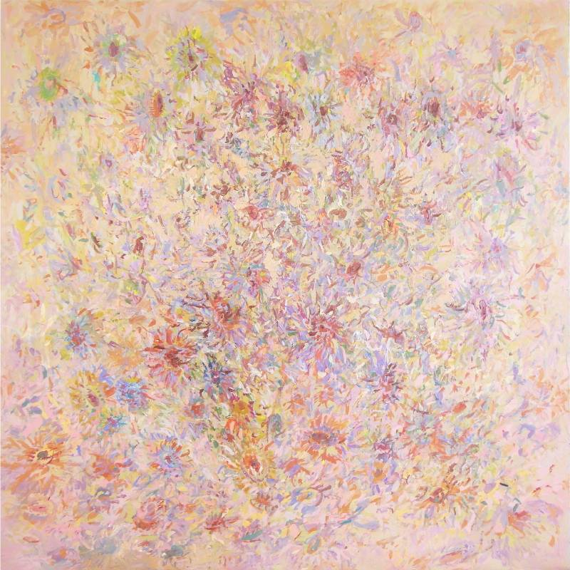 林玉雯 如花盛開 2020年 150x150cm 壓克力顏料,畫布