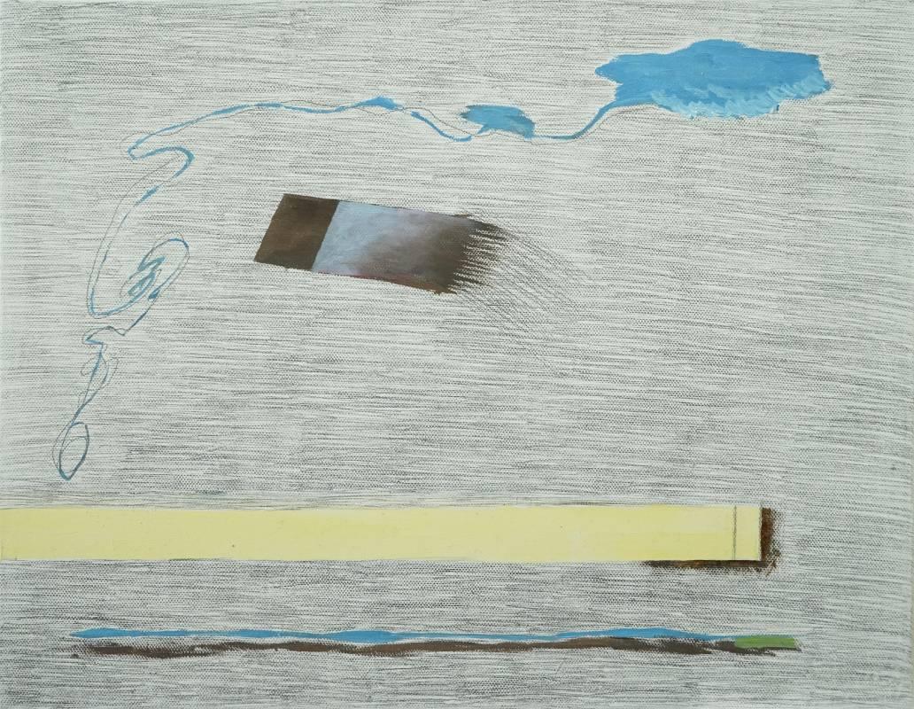 馬俐安《休憩三》,35×27 cm,油彩、鉛筆、畫布,2020
