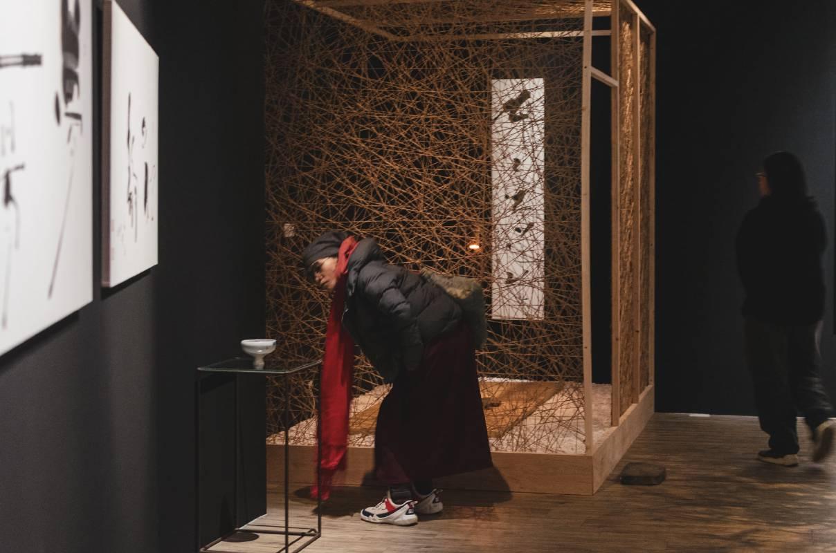 展場提供一處個人靜心空間