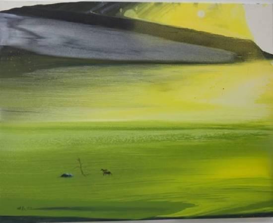 陳歡,《春之聲》,91x60cm,油畫,2019。