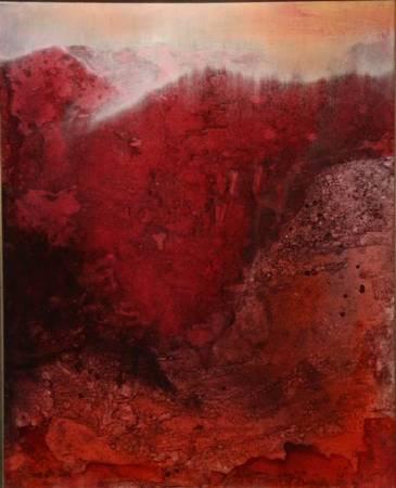 陳歡,《微熱山丘》,91x60cm,油畫,2019。