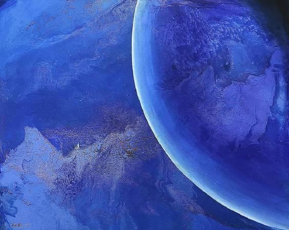 陳歡,《千年之愛》,100x80cm,油畫,2020。