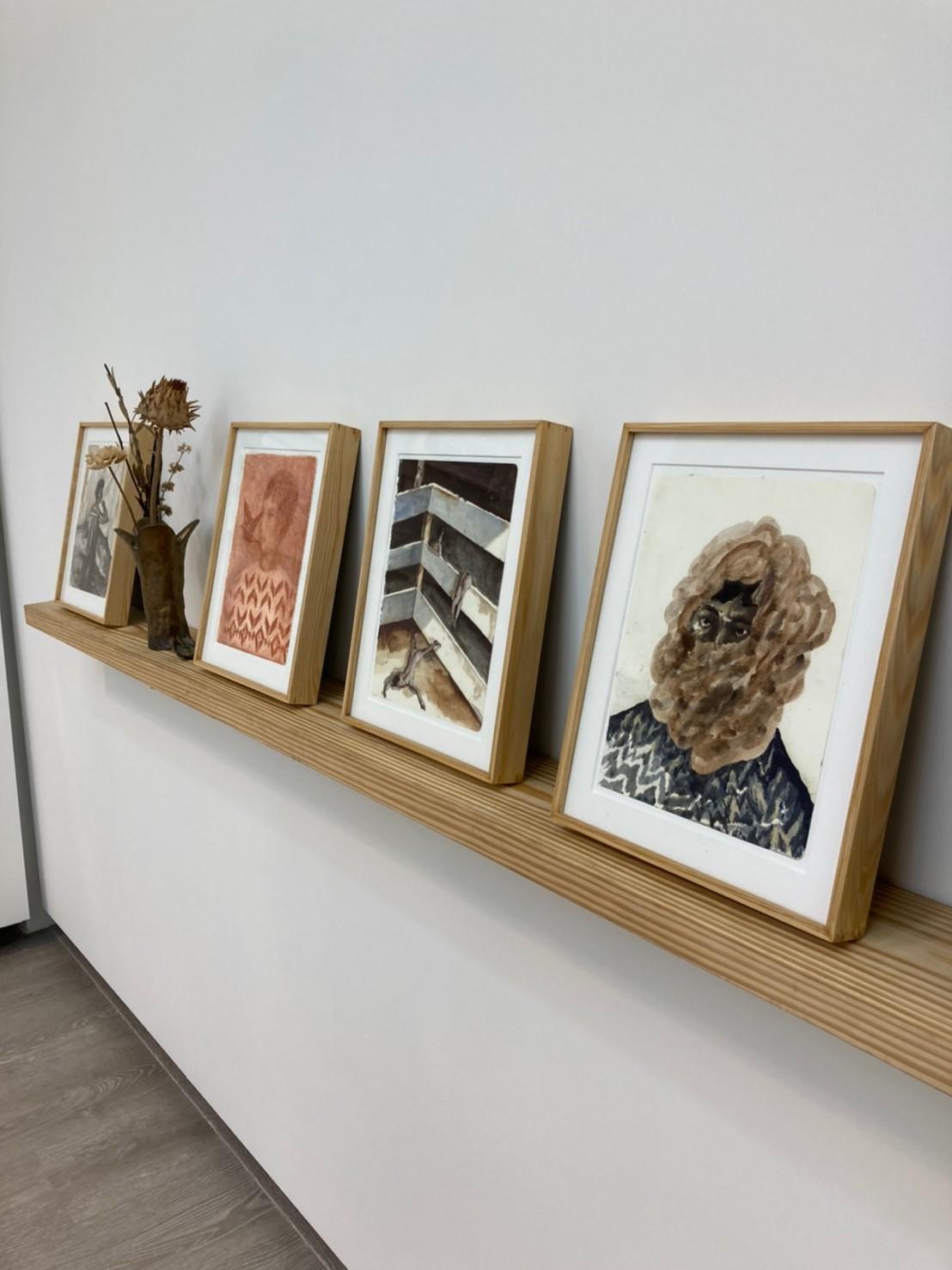 紙本複合媒材系列作品