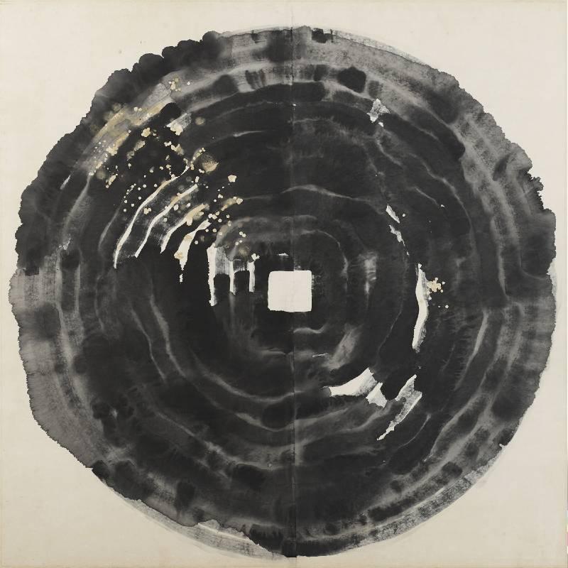 李祖原 《細讀乾坤相 No.7》  1980 水墨、紙本 167.5 x 177.5 cm