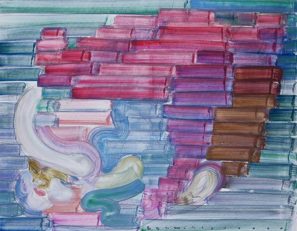 Estu Egami 江上越|Rainbow-2020-078|90,9×116,7cm|油彩畫布 Oil on canvas|2020