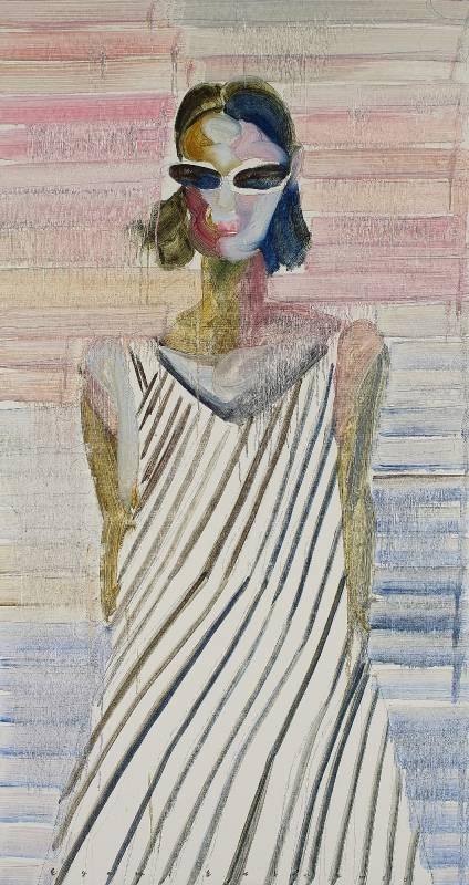 Estu Egami 江上越|Rainbow-2020-090|168,0×90,0cm|油彩畫布Oil on canvas|2020