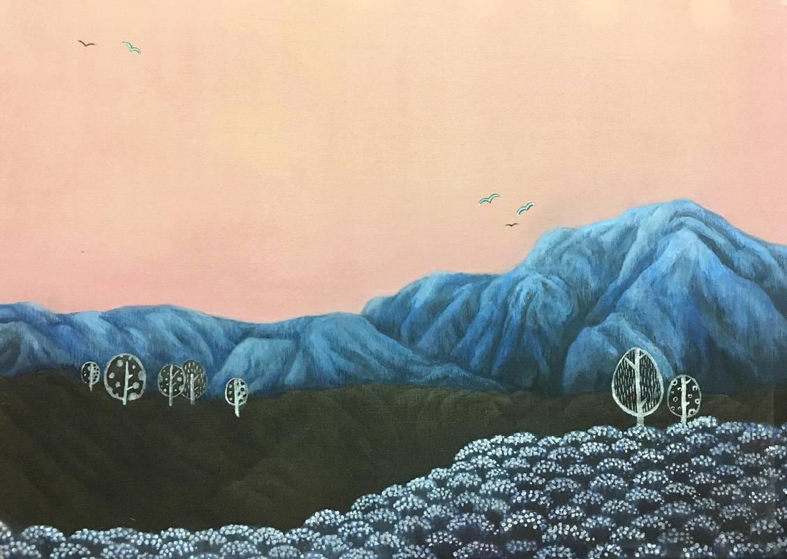 夢想島,水墨絹本設色,40×60cm,2020