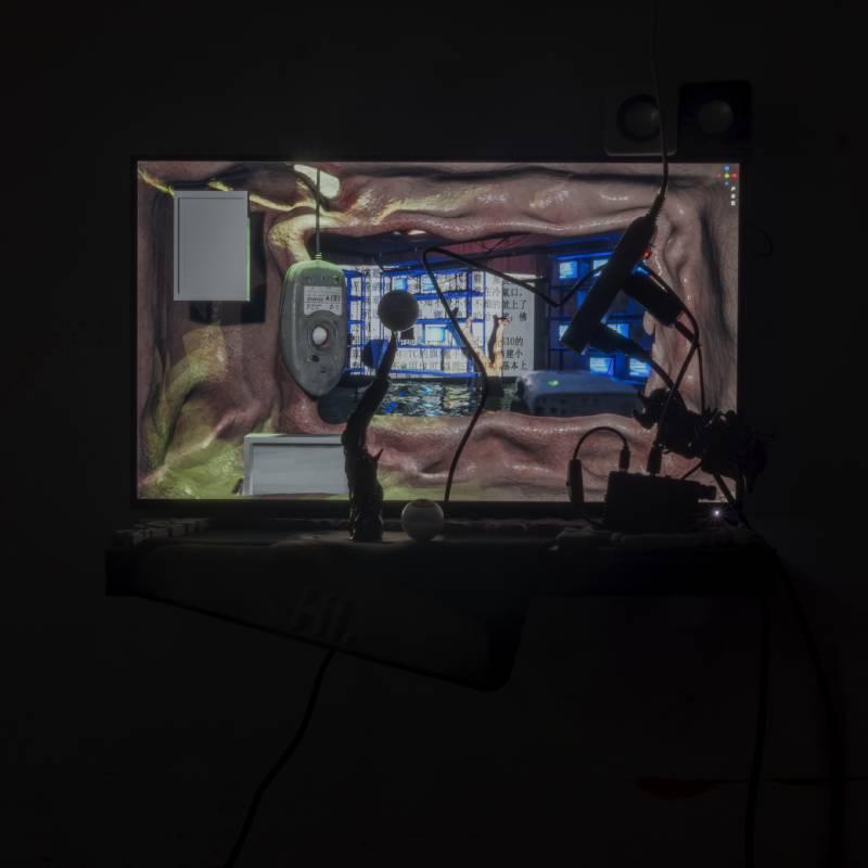 李亦凡,〈Rewiring_3〉,複合媒材 , 2021,42 x 60 x 24cm