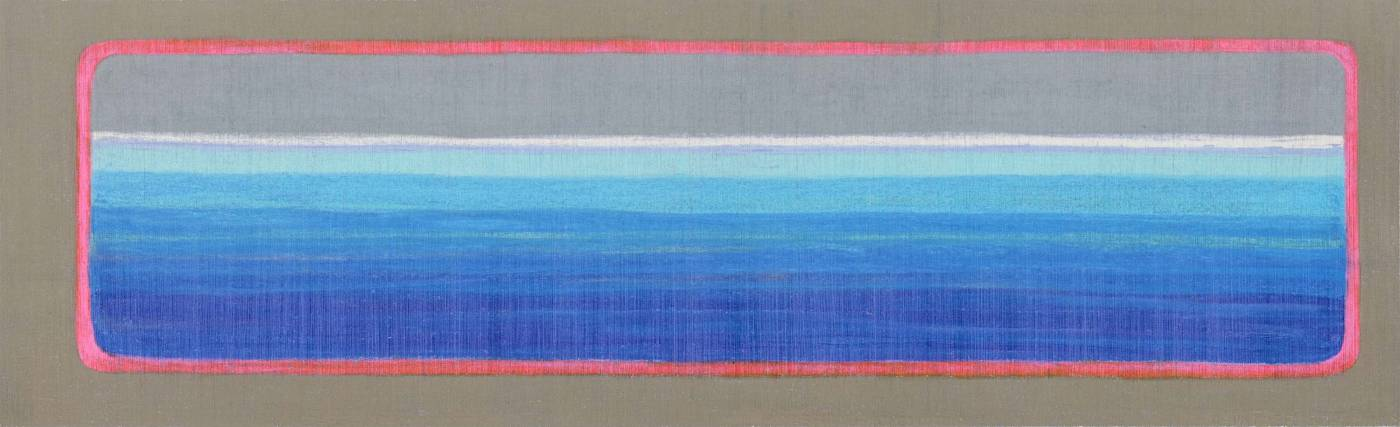 島嶼新境-12 New Horizons-12, mixed media, 35x116.5cm, 2020