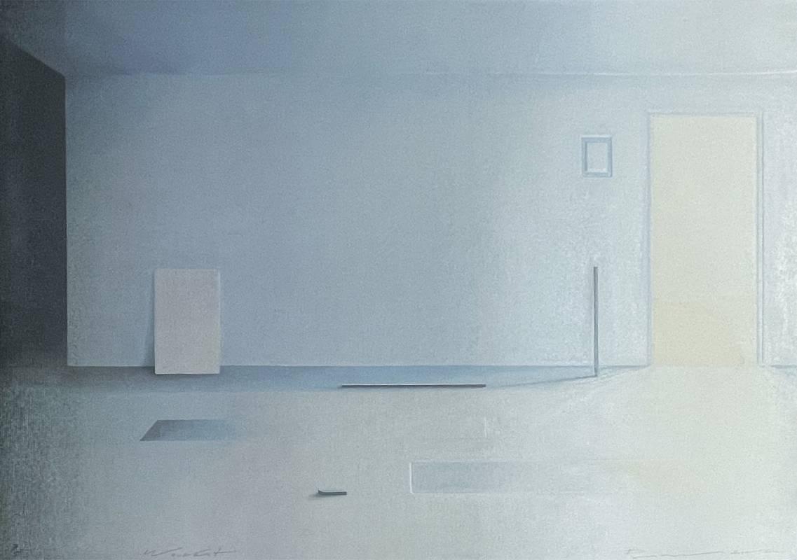 Praween Piangchompu,《Equilibrium N4》(靜-4),2020,71 x 96 cm,木版油印