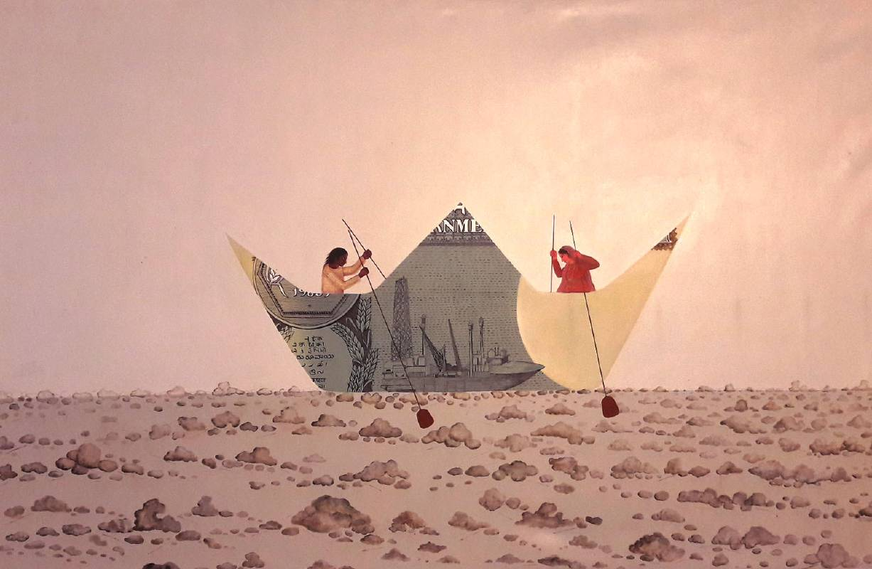 Madupu Thirupathi《夫婦》壓克力顏料 177.80x116.84cm