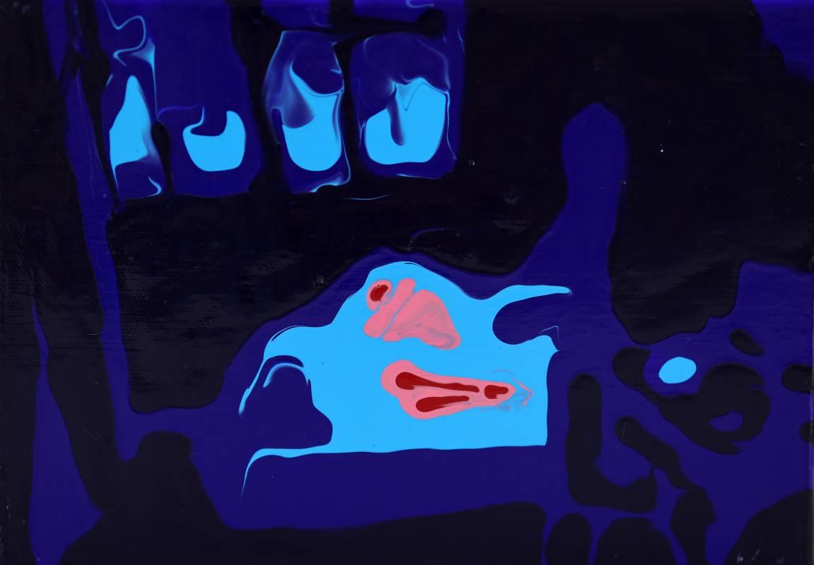 窗邊,陳若云,壓克力、 畫布,15.5x22.5cm,2020
