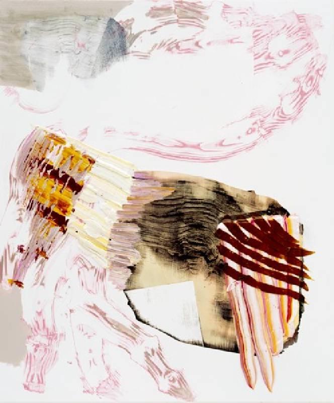 PIA FRIES, weisswirt F, 2008, oil screenprint on wood, 120 x 105 cm (47 1_4 x 41 3_8 in.)_MAI 36 GALERIE
