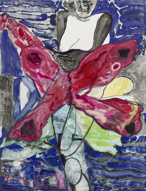 《紅蝴蝶 》 2020 壓克力彩、畫布145.5 x 112cm