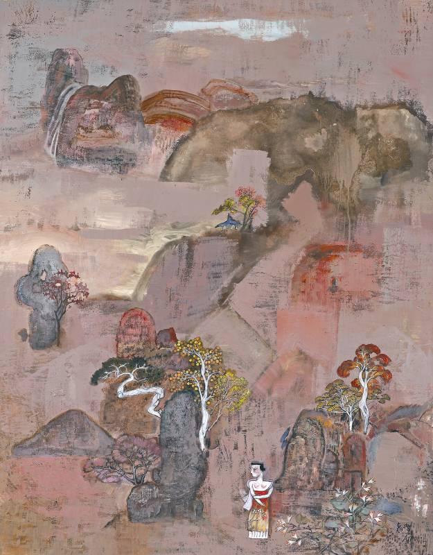 溪山秋霄,混合媒材 畫布 ,2012,116x90 cm
