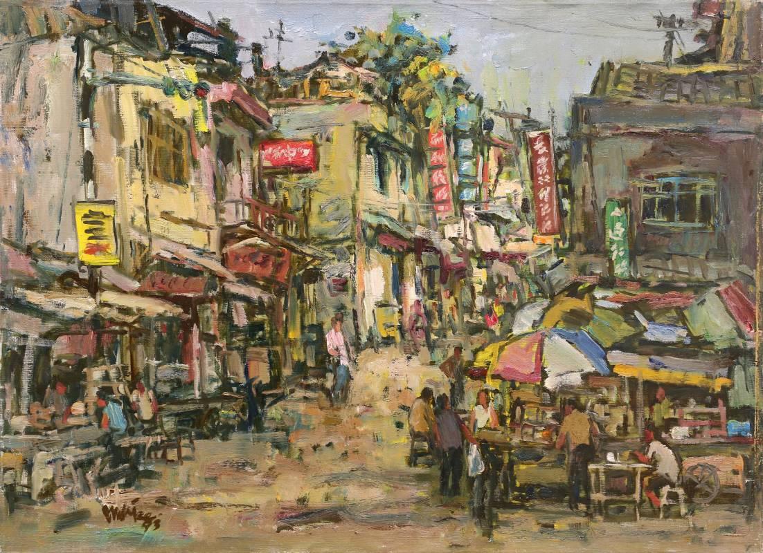 陳楚智 基隆-中華路口 1993年 53x72.5cm 油彩.畫布