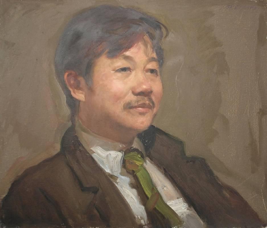 蕭學民 肖像-張金星先生 1988年  44.5x52.5cm 油彩.畫布