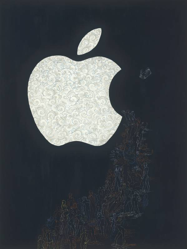 Bite of An Apple_Natural color on Canvas_113.5x85cm_2020