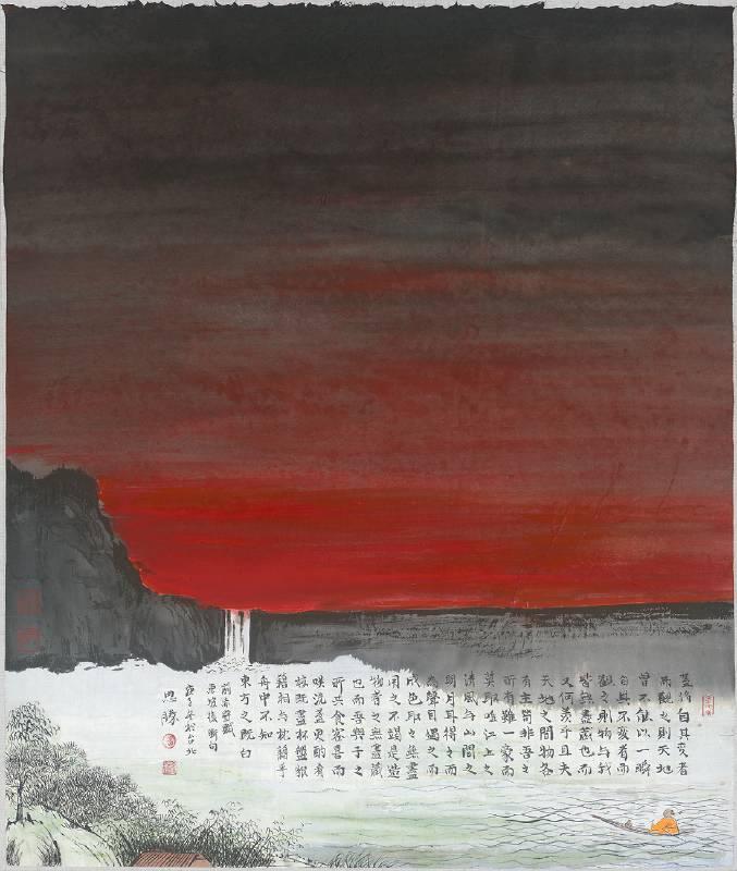 楊思勝,東方既白,2021,48.2x39.8cm,設色紙本
