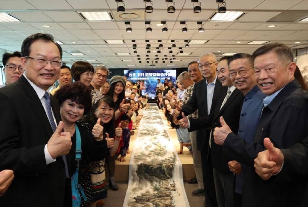 巫登益先生於台灣最高藝術殿堂──巫登益美術館展出大作「江山萬里圖」,贏得眾人一致讚賞。