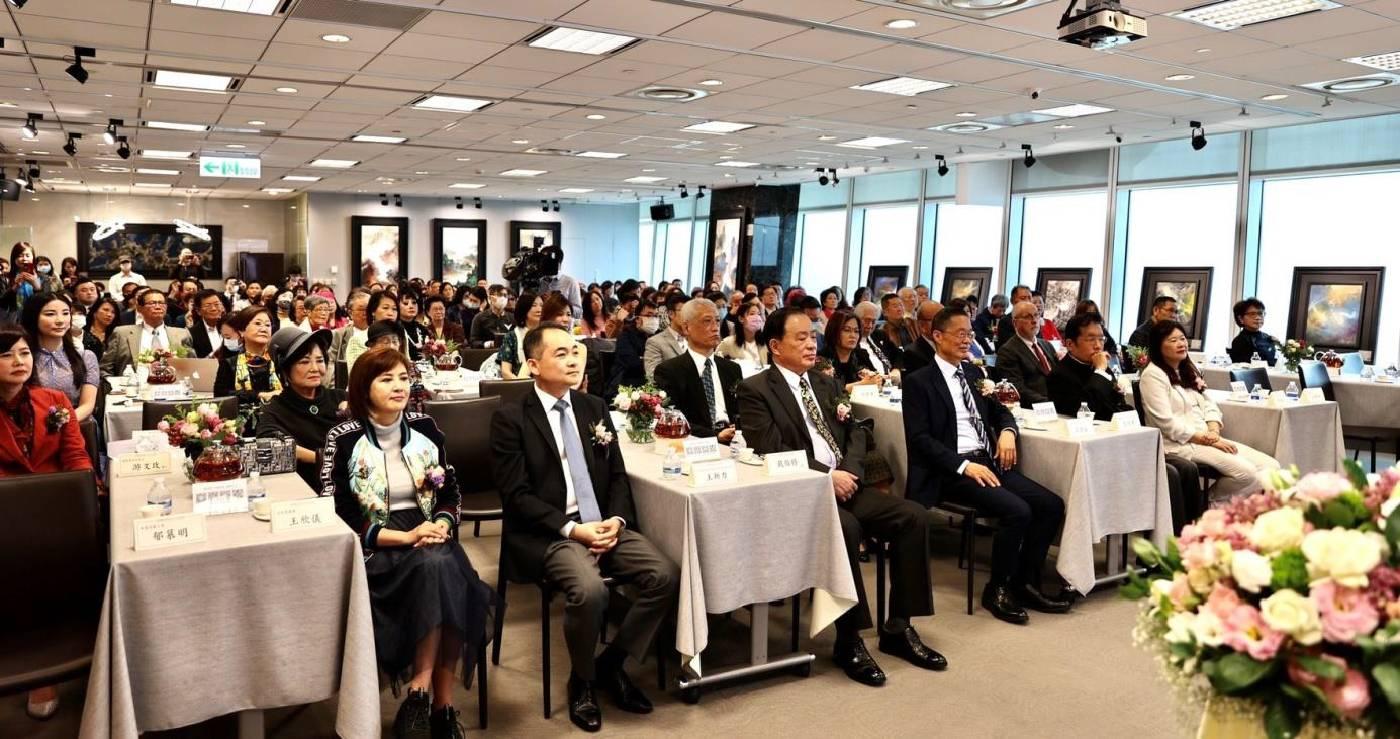 2021巫登益兩岸及國際巡展發布會。(中評社)
