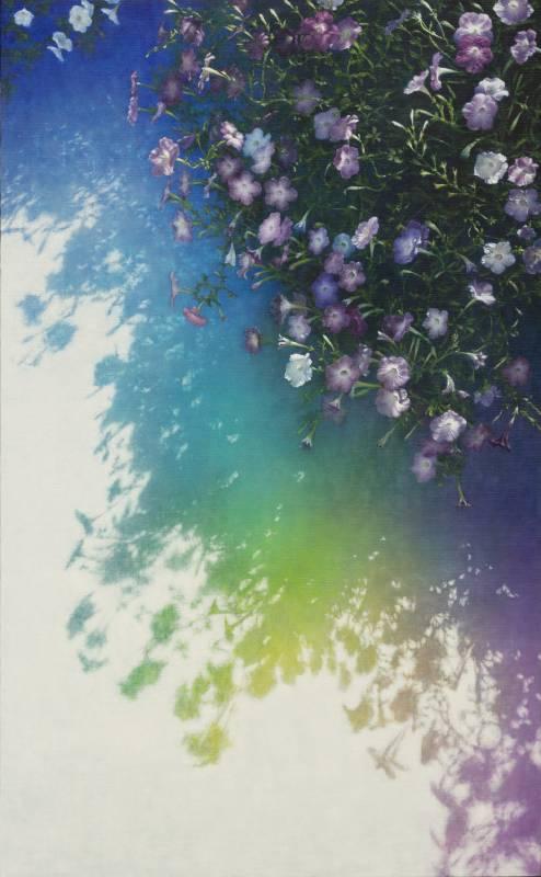劉韋岑《花-龜茲宮殿 9》油畫_89.5x145.5cm 2021
