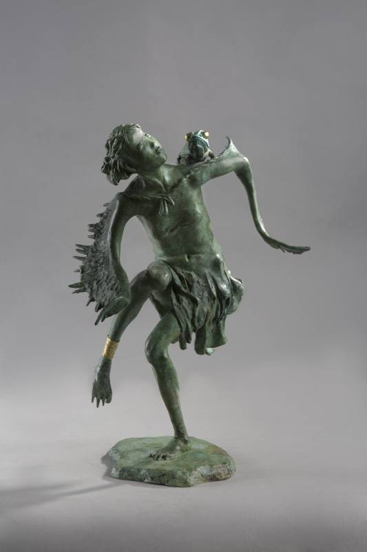 Cheng Wei TSAI蔡政維 誼精靈(Pleasing fairy - Amity) bronze銅雕 26x20x40cm2017(名冠藝術館)
