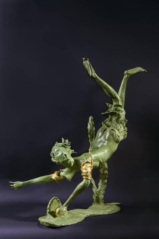 Cheng Wei TSAI蔡政維_水精靈Aqua fairy -Marquita 銅雕 2014_37x62x70cm