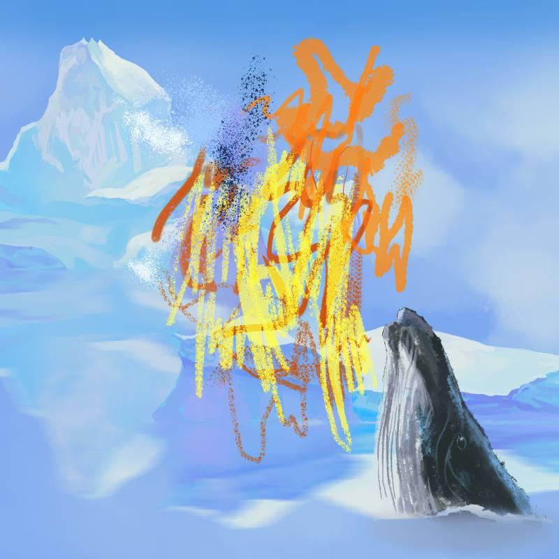 洪司丞 全球暖化 50×50cm 數位噴墨版畫.博物館永久保存最高標準紙基