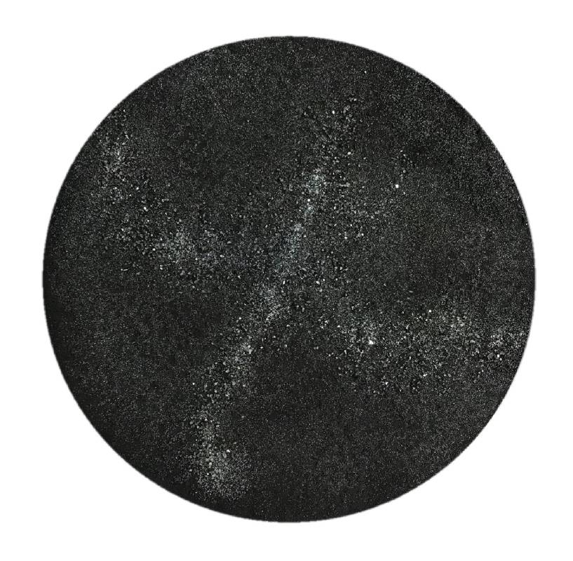 林倖安/白鳥座/25x25cm/雲肌麻紙、礦物顏料/2019