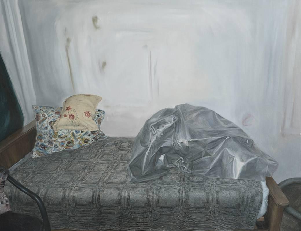 《在同儕之前……這人有》  2020油彩、麻布 100 x 130 cm