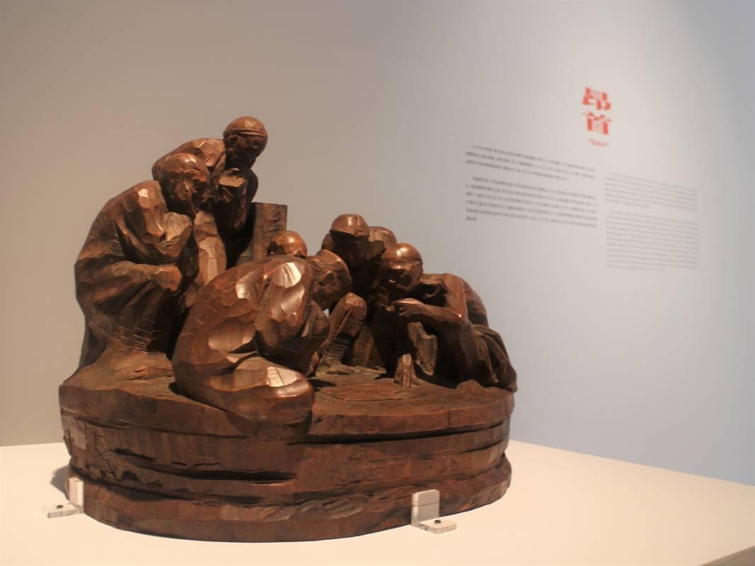 陳正雄作品〈廟前〉曾入選日本新構造展