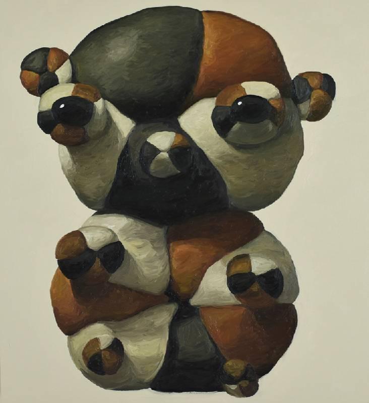 喬德 Jord (Earth) Interpreter of the Ground, 101.6x96.5cm, oil on canvas, 2020