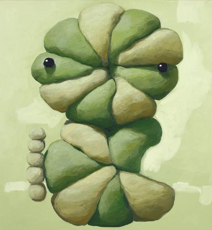 特里 Tre (Tree) Interpreter of the Forest, 101.6x96.5cm, oil on canvas, 2020