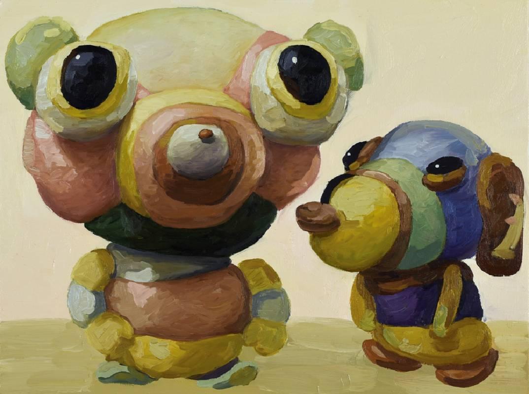 司坦與司馬司坦 Stein and Smastein, 45.7x61cm, oil on canvas, 2021