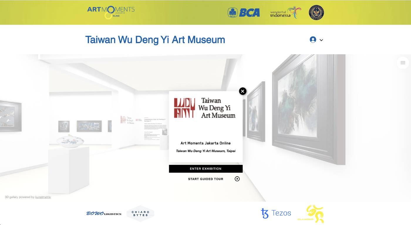 巫登益彩墨藝術於雅加達藝術博覽會線上展開