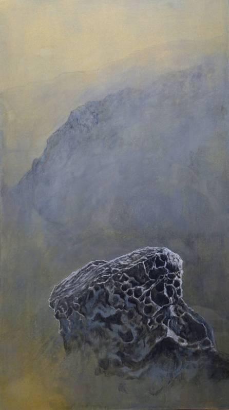 【奇石乾坤系列15】|99x56cm|紙本設色|2021|梁震明