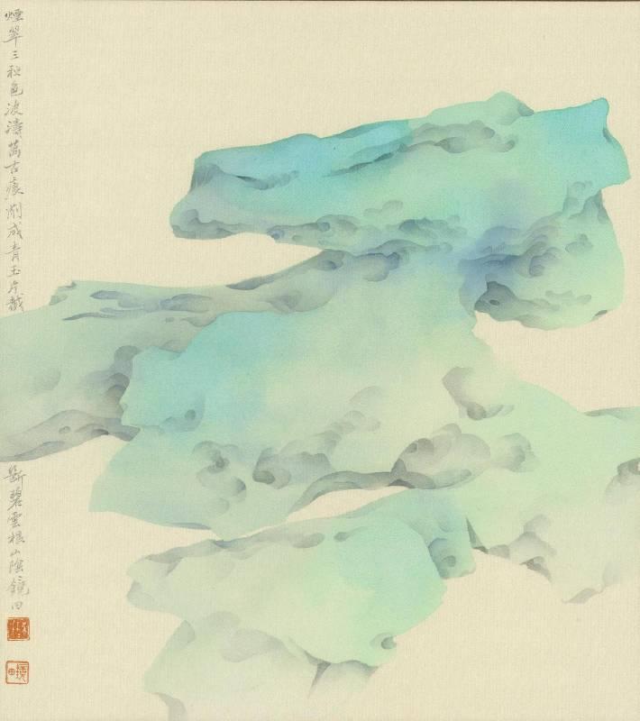 【補天遺愛之二】|27x24 cm|水墨設色|2020|陳鏡田