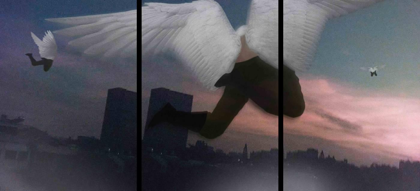 夜間飛行Night Flight, 藝術微噴、金屬光面相紙, 各84x60cm共3幅, edition of 8, 2021