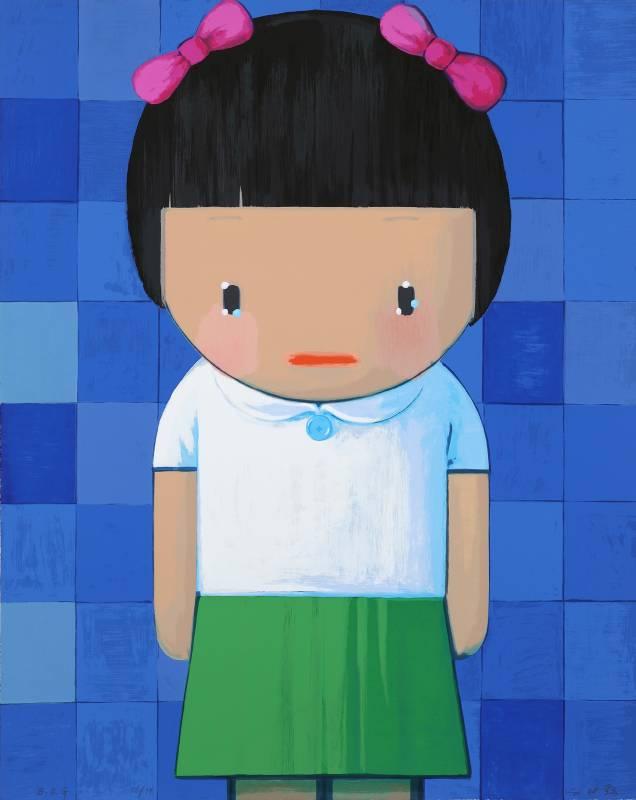 劉野-B.B.G (Big Blue Girl)-96x77cm-2008