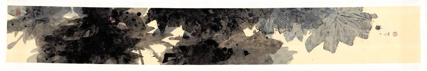 馮永基  生命系列(十一) 26x180cm  2021  設色紙本