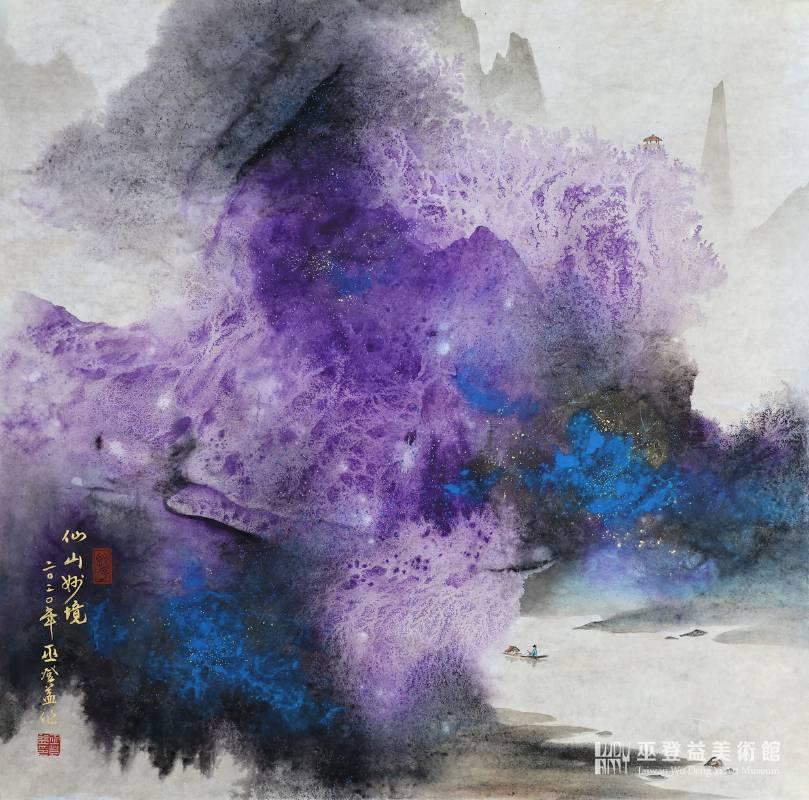 《春江映彩》 66x67cm 彩墨紙本 2020