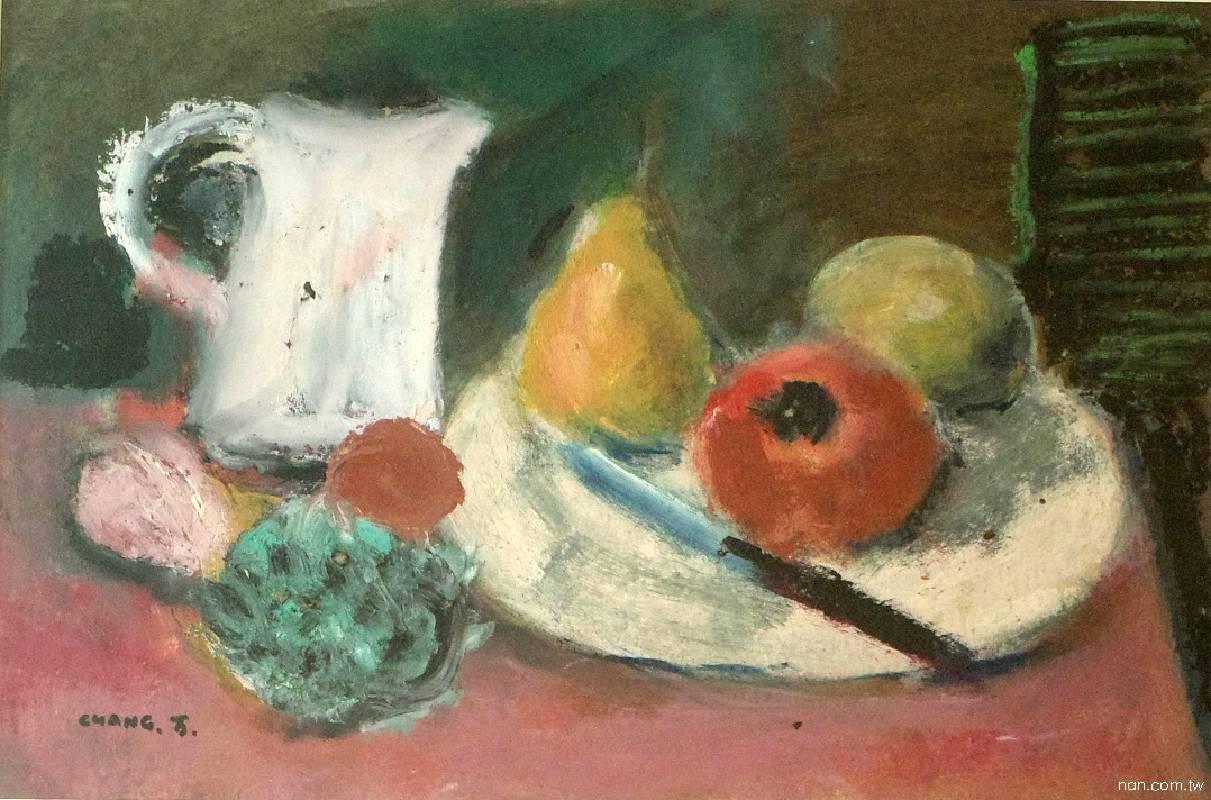 張萬傳〈水果與靜物〉