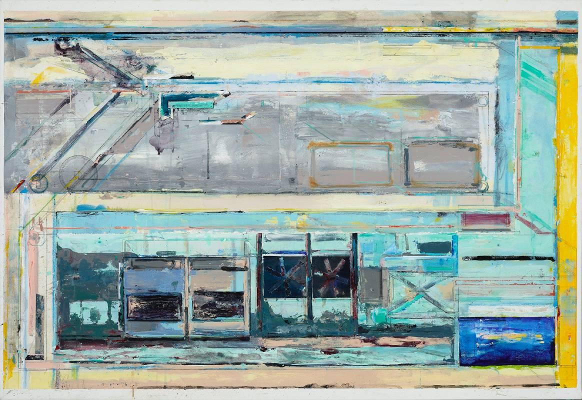 陳建榮,《Landscape 124》,壓克力、複合媒材、畫布Acrylic and Mixed Media on Canvas,89.5x130x3cm,2017