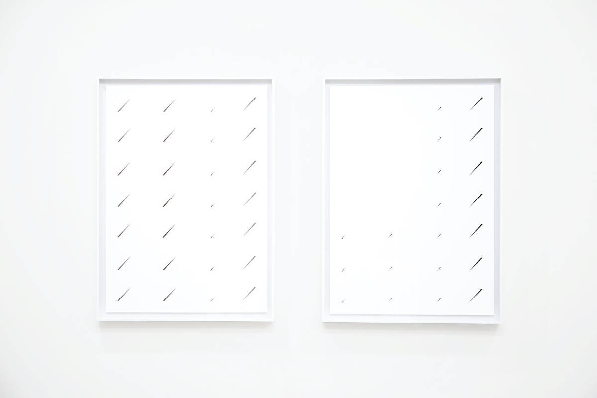 《水泥牆面》Cement Wall Surface,藝術微噴、鋁裱Giclée Print, Aluminum Frame,60.7x44.7x4cm(x2pcs),2020
