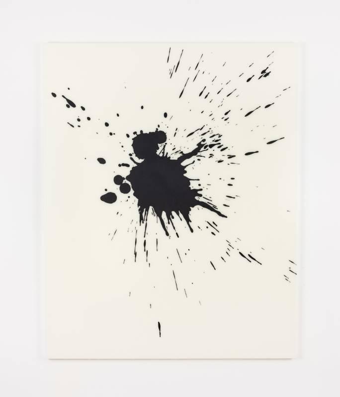 李培 《無題》, 2019 布⾯丙烯媒材及⽊炭墨⽔ 162 x 130 cm 攝影:Ringo Cheung 圖片由藝術家及⾙浩登提供