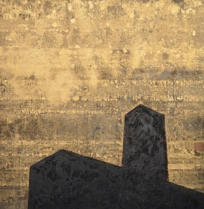張益昇 Chang Yi Sheng / 繁華盡是夢 - 佔領我的心 Prosperity Is a Dream-Occupy My Heart , 33×33 cm , 紙本綜合媒材Mixed media on paper , 2021